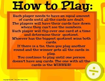 The Biggest Quotient Game