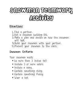 The Biggest Snowman Ever Activities