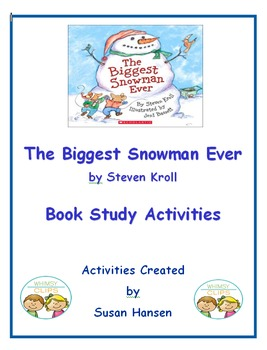 The Biggest Snowman Ever Book Study Activities