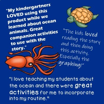 Activities for the book I'm The Biggest Thing in the Ocean: math, science, craft