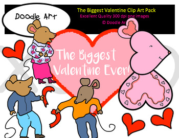 The Biggest Valentine Clipart Pack
