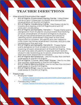 Bill of Rights--Graphic Organizers, Vocabulary, Interactive Notebook, and more!