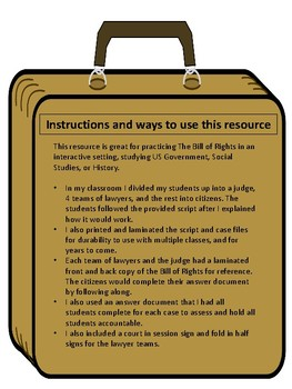 The Bill of Rights Classroom transformation, Social Studies