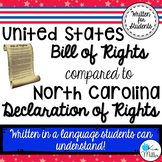 United States Bill of Rights & North Carolina Declaration