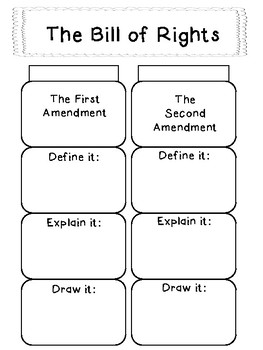 The Bill of Rights: Interactive Notebook