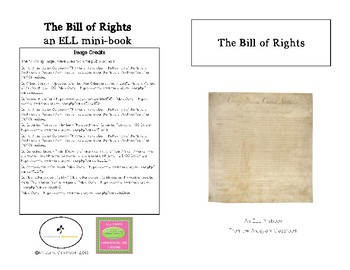 The Bill of Rights Minibook for ELL Students