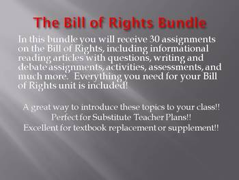 The Bill of Rights Super Bundle!!! Save $30!!