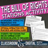 The Bill of Rights Supreme Court Stations Gallery Walk Interactive Presentation