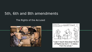 The Bill of Rights: The Fifth, Sixth and Eighth Amendments