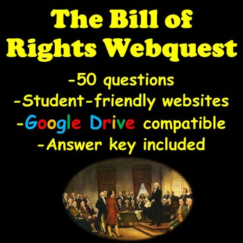 The Bill of Rights Webquest | Distance Learning