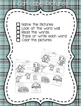 Billy Goats Gruff Theme Independent Writing Practice