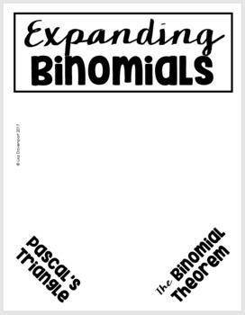 The Binomial Theorem (Algebra 2 Foldable)