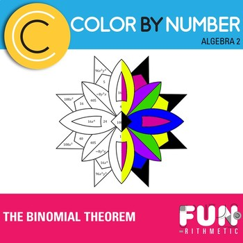 The Binomial Theorem Color by Number by Funrithmetic | TpT
