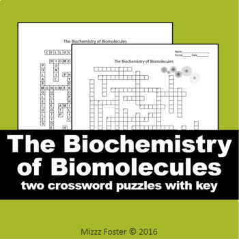 the biochemistry of biomolecules crossword puzzle with and without word bank