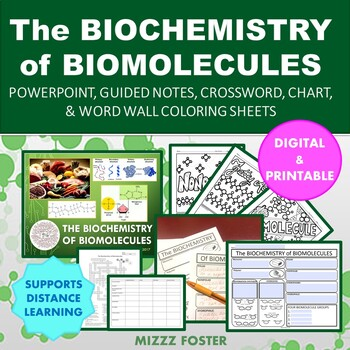 The Biochemistry of Biomolecules Powerpoint, Foldable, Word Wall, and more!