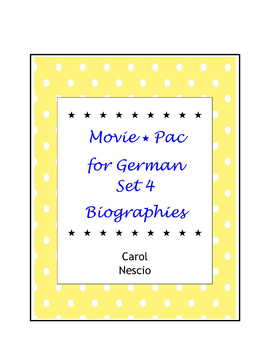 Movie * Pac For German ~ Set 4 Biographies