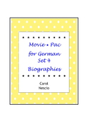 Movie * Pac For German ~ Set 4 Biographies