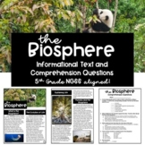 The Biosphere: Informational Text Passage and Comprehension Questions