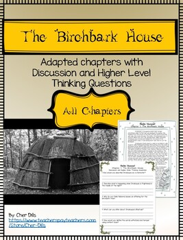 The Birchbark House Adapted Chapters 5- 8 with Discussion Questions