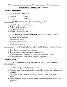 The Birchbark House Chapter 5-8 Multiple Choice