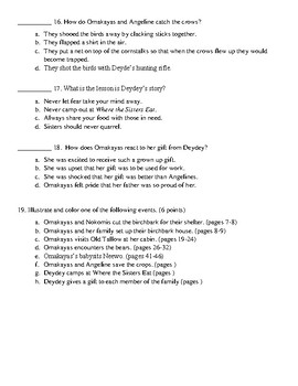 The Birchbark House Chapters 1-4 Quiz Multiple Choice