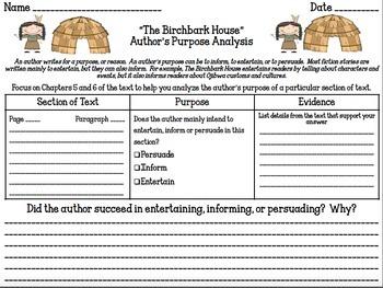 The Birchbark House Comprehension Bundle