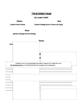 The Birchbark House: Diction, Tone, Mood, Theme, Author's Purpose