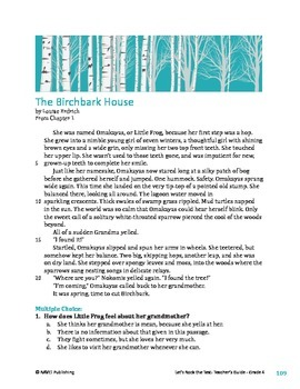 The Birchbark House - Literary Text Test Prep