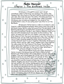 The Birchbark House Prologue & Chapters 1-4 with Discussion Questions