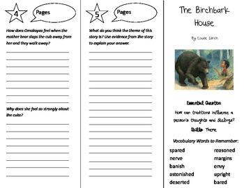 The Birchbark House Trifold - Journeys 5th Grade Unit 5 Week 2 (2014, 2017)