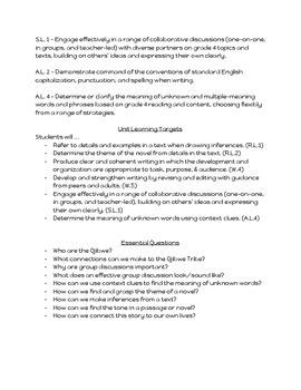The Birchbark House Unit Plan