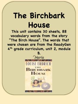 Readygen The Birchbark House Vocabulary 4th Grade Unit 2