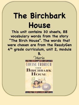 Tremendous The Birchbark House Worksheets Teaching Resources Tpt Download Free Architecture Designs Intelgarnamadebymaigaardcom