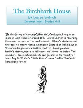 The Birchbark House by Louise Erdrich - Novel Study Guide with Signposts