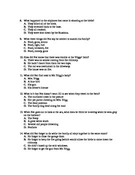 """""""The Birds"""" Test with Answer Key Attached"""