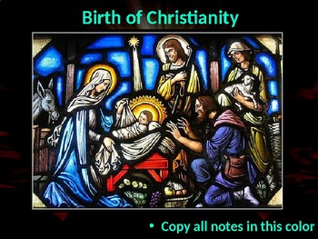 The Birth and Spread Christianity Mini-Unit