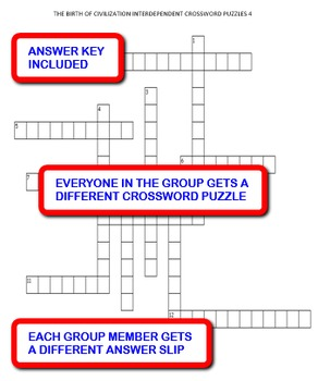 The Birth of Civilization:  Interdependent Crossword Puzzles Activity