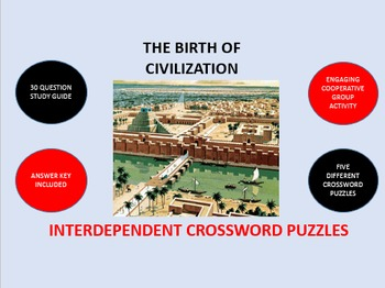 The Birth of Civilization:  Interdependent Crossword Puzzl