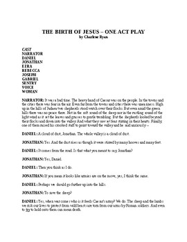 The Birth of Jesus - One Act Play