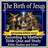 The Birth of Jesus Nativity Bible Study for Middle and High School Self-Grading