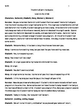 The Birth of John the Baptist, The Life of John the Baptist