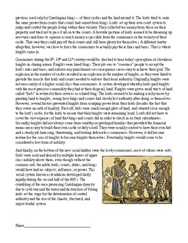 Middle Ages: The Birth of Medieval European Feudalism