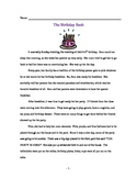 The Birthday Bash Comprehension Story