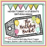 The Birthday Bucket: Birthday Pencil Toppers