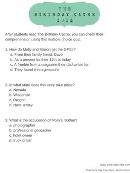 The Birthday Cache Unit Study