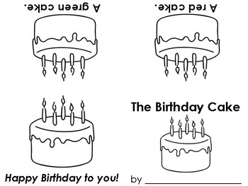 The Birthday Cake early reader book