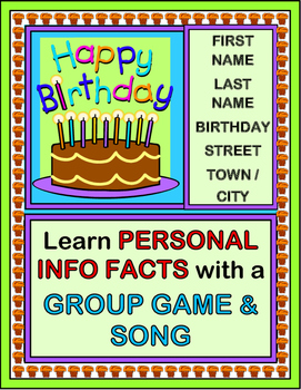 """The Birthday Game!"" - Practice Personal Information Facts"