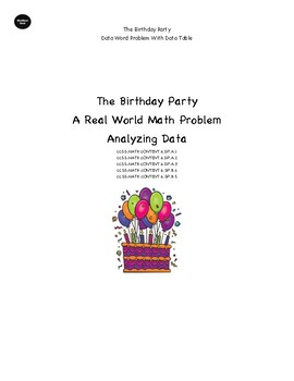 The Birthday Party - Data Word Problem in the Real World