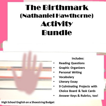 The Birthmark Activites Bundle (Nathaniel Hawthorne) -Word