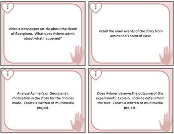 The Birthmark Culminating Projects Task Cards (Nathaniel Hawthorne)